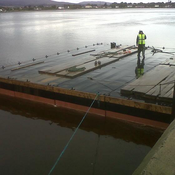 Spud leg barge - Neva 10m